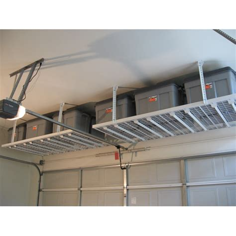 build overhead garage storage diy overhead garage storage smalltowndjs