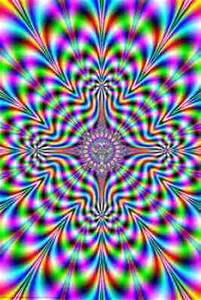Psychedelic Pulse Optical Illusion Poster