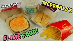 SLIME FOOD MCDONALD'S (SLIME HAMBURGER,PATATINE FRITTE E ...