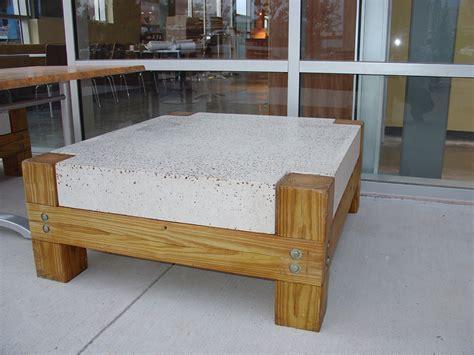 concrete cafe bar tables  tops austin concrete