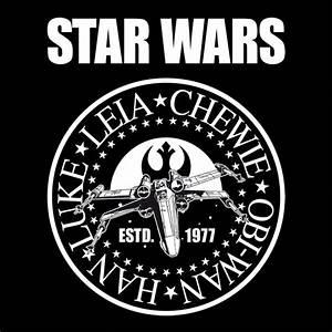 Star Wars Schriftzug : star wars seal t shirt mit luke skywalker leia chewbacca ~ A.2002-acura-tl-radio.info Haus und Dekorationen