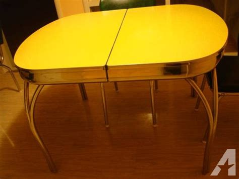 vintage  retro formica chrome kitchen table  chairs