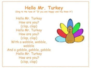 hello mr turkey thanksgiving and turkey song by mrs 235 | original 985210 1