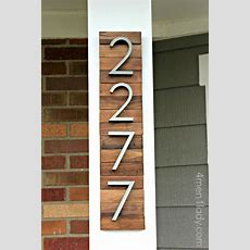 New House Numbers Project And A Giveaway