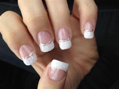 nägel weiß glitzer unhas manicure 224 francesa