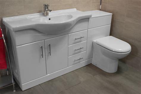 Luxury Bathroom Vanity Unit + Btw Back To Wall Wc