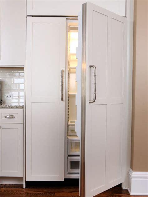 kitchens refrigerator panels design modern