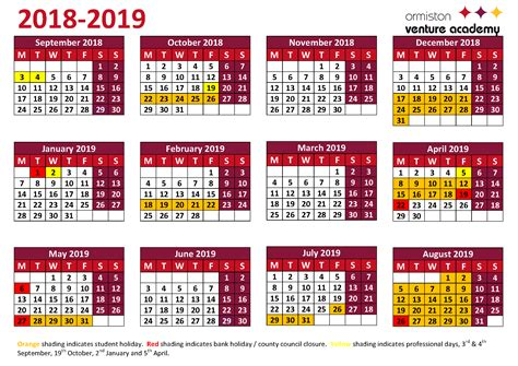 School Holiday 2019 Calendar Uk And Holiday Dates