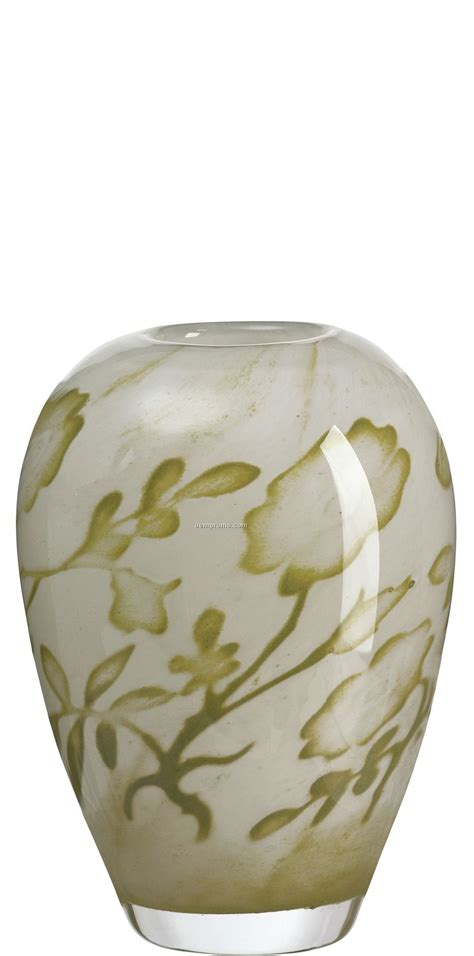 floating flowers in vase floating flowers glass vase by olle brozen green china