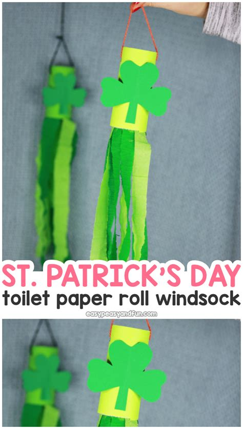 st patricks day windsock toilet paper roll craft easy