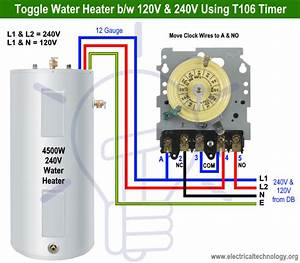 How To Toggle Electric Water Heater Between 120v And 240v