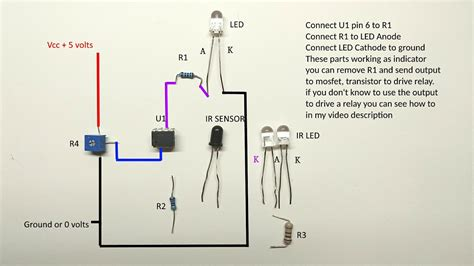 long range infrared sensor circuit diagram youtube