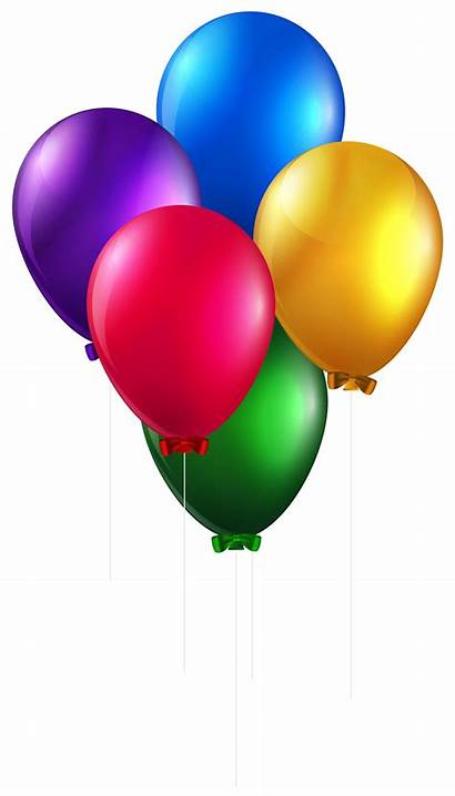 Balloons Clip Balloon Birthday Colorful Clipart Transparent