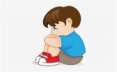 Sad Boy Clipart Cartoon Clip Pngkey Transparent