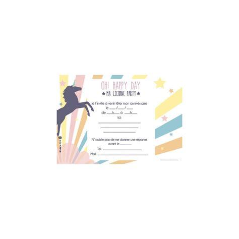 photo chambre garcon 8 cartons d 39 invitation anniversaire licorne family