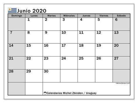 calendario junio  uruguay calendario septiembre