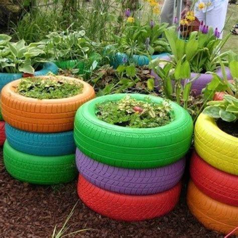 Garten Deko Messe by Gartendeko Selber Machen Reifen Mit Blumen Garten Tire