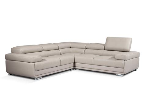 modern grey leather sofa modern gray leather sectional sofa ef119 leather sectionals