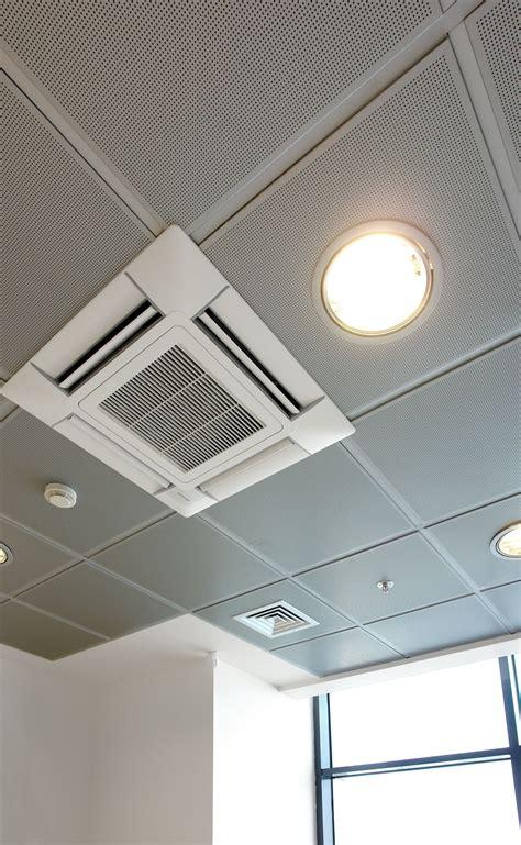metallic perforated false ceilings air conditioning