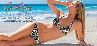 Tan Suits Cooltan Bathing Piece Through Bikinis