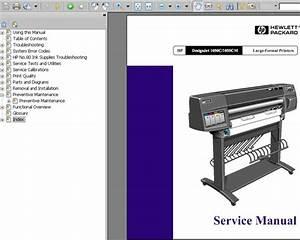 Hp Designjet 1050c    1055cm Printers Service Manual And
