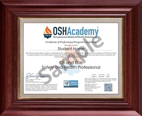 oshacademy  hour oil  gas safety  health
