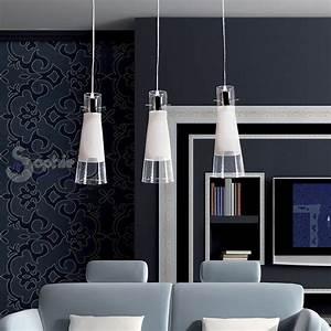 Lampada lampadario sospensione design moderno acciaio cromo vetro cucina salone lampadari