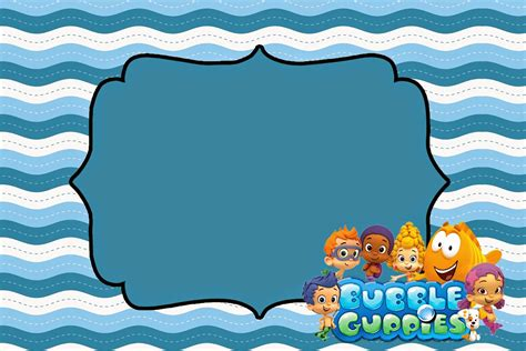 Bubble Guppies Free Printable Invitations Oh My Fiesta