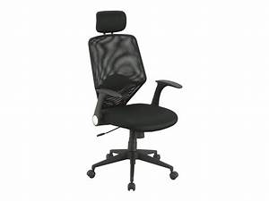 Fauteille De Bureau : fauteuil de bureau confortable appuie t te maintien lombaire noir galleon livraison ~ Teatrodelosmanantiales.com Idées de Décoration
