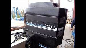 A167117 Used 1985 Mercury 150 Xr2 Elpto 150hp Outboard Boat Motor 20 U0026quot  Shaft