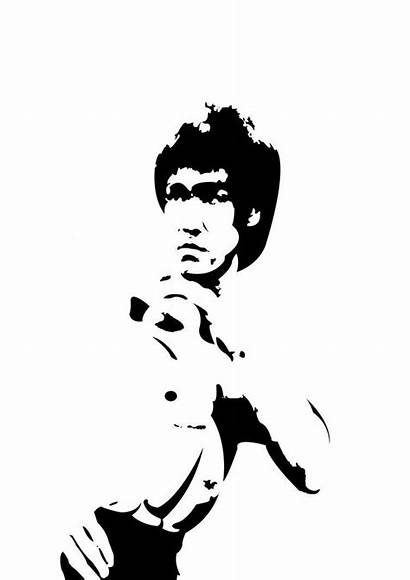 Bruce Lee Silhouette Vector Tattoo Photoshop Action