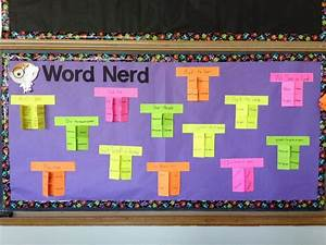Middle school word wall ideas bits and pieces of middle for Bulletin board template word