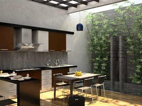 desain dapur terbuka minimalis desain patio