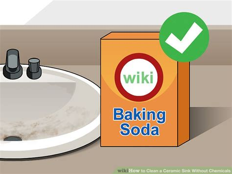 how to clean ceramic sinks in kitchen 3 ways to clean a ceramic sink without chemicals wikihow 9328