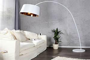 Stehlampe Weißer Schirm : stehlampe bogenlampe sapphire weiss gold marmor lounge design leuchte neu ebay ~ Frokenaadalensverden.com Haus und Dekorationen