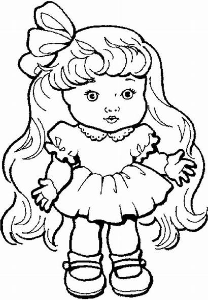 Doll Coloring Pages Getcoloringpages American Clip