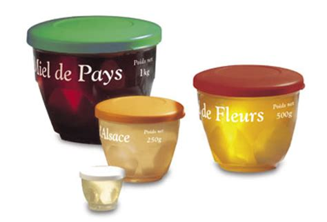 pot cristal portion avec couvercle pour 30g de miel