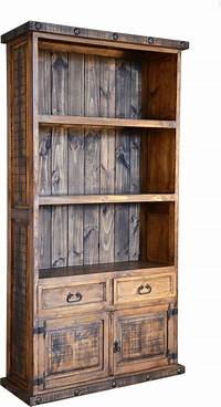 great rustic wood bookcases Rustic Bookcase, Pine Wood Bookcase, Bookcase With Cabinets