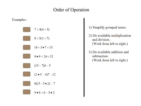 Order Of Operatiom  Math For You