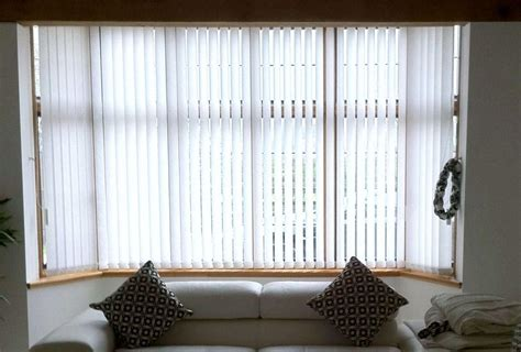 vertical blinds for bay window treatments design ideas