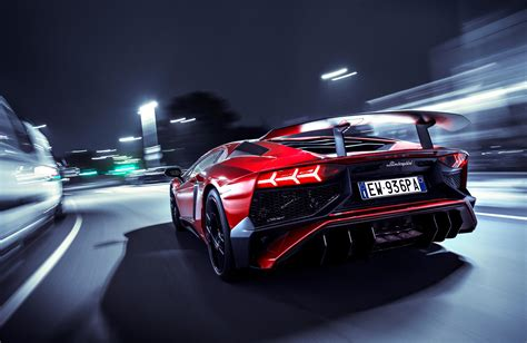 Lamborghini Aventador Sv Rear Lights, Hd Cars, 4k