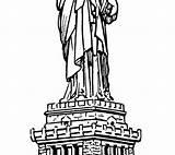 Liberty Statue Coloring Printable Getdrawings Getcolorings sketch template