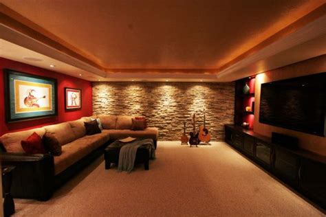 media room home theater wall feature