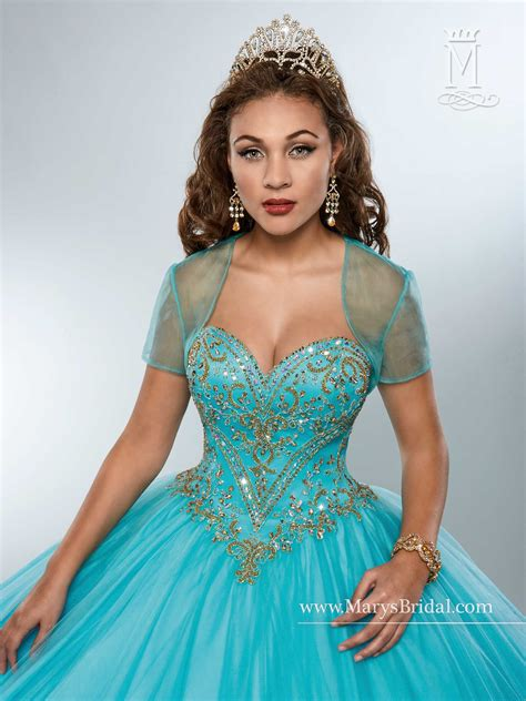 marys quinceanera dresses style   champagne