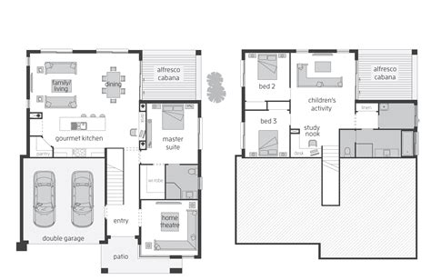 split level floor plan horizon act floorplans mcdonald jones homes