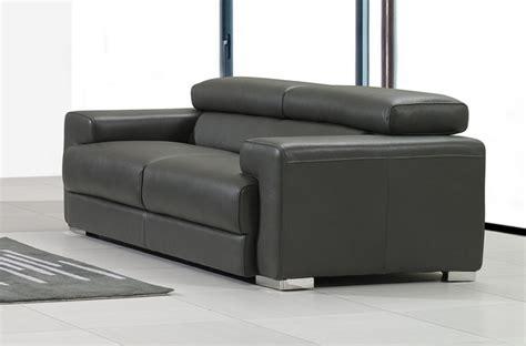 canap en cuir gris canapé 2 places en cuir italien vivaldi gris foncé