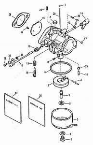 Mercury Force 40 H P  1995  Carburetor 50 H P