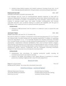 resume for college interview sle support services resume