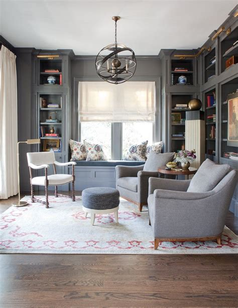 Cosy Interior With A Area For Play Study Sleep by Room Envy A Sophisticated Gray Study In Ansley Park