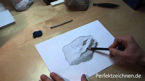 zeichnen lernen fuer anfaenger  stein realistisch